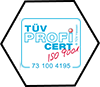 TÜV HESSEN - nach CERT ISO 9001