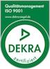 DEKRA nach ISO 9001 Zertifikat