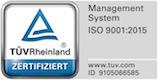 TÜV Rheinland nach ISO 9001 Zertifikat